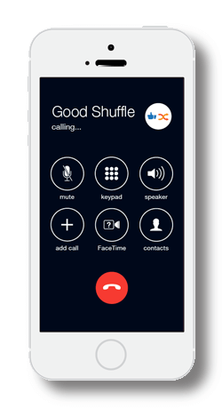 iphone calling goodshuffle